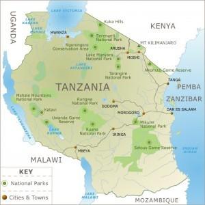 Wildlife Map - Tanzania